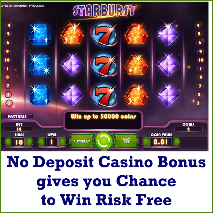 online casino no deposit bonus on9 games